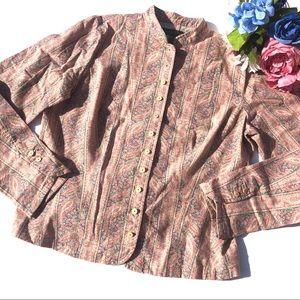 Ralph Lauren Vintage Linen Paisley Jacket Size 12